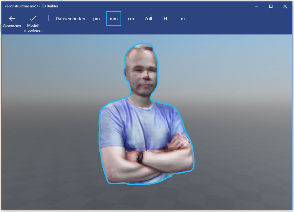 3D-Scan mit einer Tiefenkamera (Microsoft Kinect V2